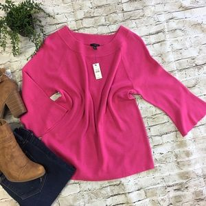 TALBOTS Women's Pink 3/4 Bell Sleeve Blouse SZ XLp